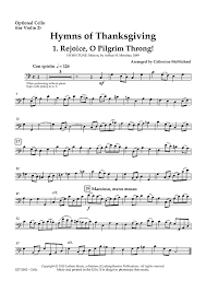 hymns of thanksgiving for 2 violins and piano optional cello for