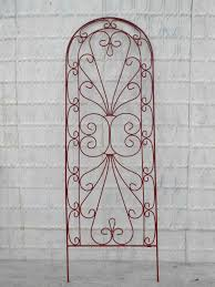 Wrought Iron Decorations Home by Wrought Iron Heart Garden Flower Trellis
