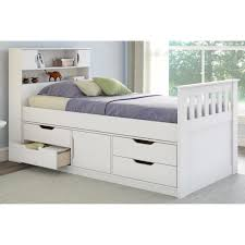 Bedroom Furniture With Storage Underneath Bed U0026 Bedding Using Mesmerizing Twin Captains Bed For Captivating