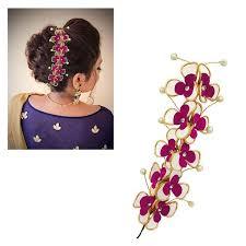 hair brooch design apurva pearls pink floral design hair brooch jewelmaze