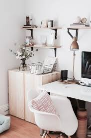 home office design blogs floating shelves in a small office space vertical storage