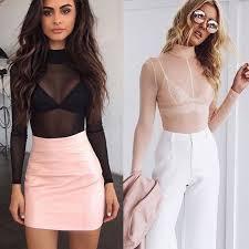 see thru blouse pics see through sheer mesh tops sleeve casual
