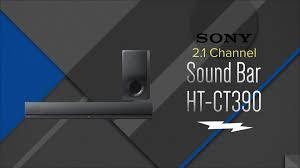 black friday sound bar sony 2 1 ch black sound bar with wireless subwoofer htct390
