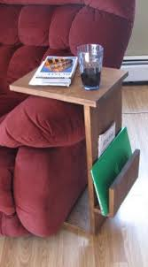 couch arm coffee table sofa chair arm rest tv tray table stand with side storage slot tv