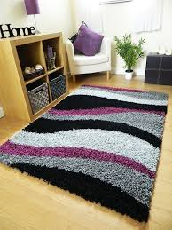 Small Purple Bedroom Rugs Small Extra Large Rug New Modern Soft Thick Black Silver Grey