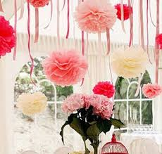 hanging ceiling decorations wholesale 10 pom pom tissue paper flower decorative wedding