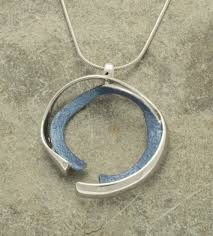 metal circle necklace images Contemporary broken circle necklace blue glitterarti jpg