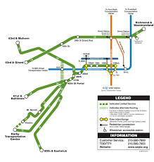 Green Line Metro Map by Septa Route 10 11 13 15 34 U0026 36 Trolley Line Map