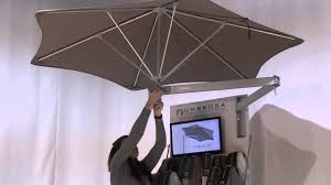 Wall Mounted Shade Umbrella by Paraflex Von Umbrosa Youtube