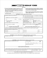 sample social security direct deposit form 6 examples in pdf