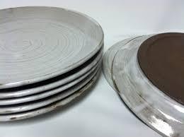 Shabby Chic Dinner Set by Handmade Dinner Plates Pottery Dinnerware Ceramic Plate