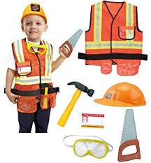 Halloween Costume Construction Worker Amazon Melissa U0026 Doug Construction Worker Role Play Costume