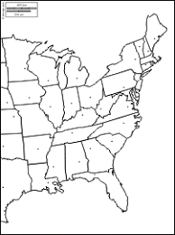 united states map blank with outline of states east coast of the united states free map free blank map free
