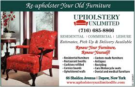 Upholstery Albany Ny Upholster Your Old Furniture Upholstery Unlimited Depew Ny