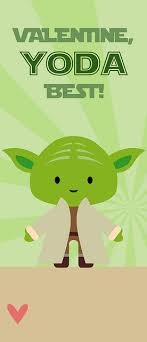 yoda valentines card these free printable yoda valentines with the glow sticks