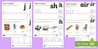 letter formation worksheets phase 3 handwriting letter
