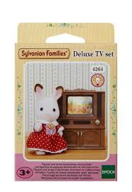 Sylvanian Families Deluxe TV Set - Sylvanian families luxury living room set