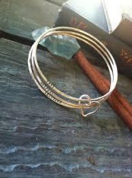Personalized Bangle Bracelet Personalized Bangle Bracelet Silver And Gold Beloved Bangle