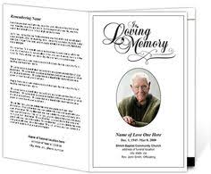 Funeral Program Sample Elegant Memorial Funeral Bulletins Simple Download Printable
