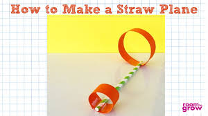 how to make a straw plane easy crafts for kids youtube
