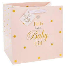 hello gift bags hello beautiful baby girl gift bag medium the simply small company