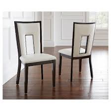 Silver Dining Chair Broward Dining Chairs Wood White Brown Set Of 2 Steve Silver