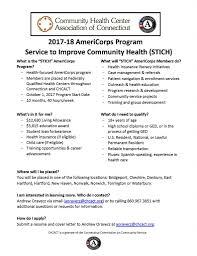 2017 2018 chcact service to improve community health stich program