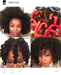 flexi rod stretch long 4b c hair 14 defined and undefined roller sets on 4c hair roller set
