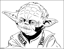 yoda mask coloring page kids drawing and coloring pages marisa