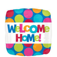 welcome home balloon bouquet welcome home balloons party city