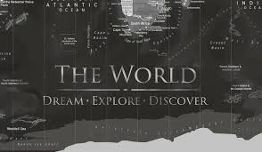 Maps Cu Uss Enterprise World Map Framed Pin Board Map Geojango Maps