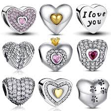 pandora style bracelet diy images 100 authentic 925 sterling silver heart shape charm beads fit jpg