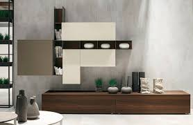 furniture simple white modern storage wall unit mix glossy
