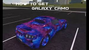 galaxy car paint roblox vehicle simulator how to get galaxy camo youtube