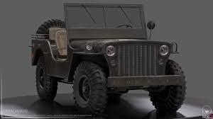 black military jeep artstation willys jeep deen mugal