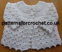 crochet baby sweater pattern lemon drops size for infants 3 6 months 18mths ch 120 and use