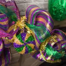 4 swirl tinsel disc ornament mardi gras xy7987tc