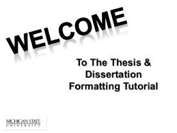 To The Thesis amp Dissertation Formatting Tutorial The Graduate     FAMU Online