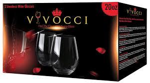 amazon com vivocci unbreakable elegant plastic stemless wine