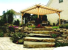 small flower bed ideas with rock garden also plants and flowers