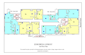 Floor Plan To Scale by 22 Buswell Street Housing Boston University