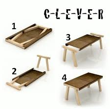 awesome small wood folding table very cool probably 11 pieces of