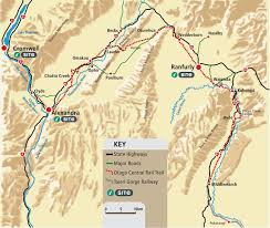 map central rail trail map otago central rail trail cycle central otago