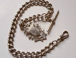 silver watch chain necklace images Darlor vintage pocket watch fobs and chains pg 2 jpg