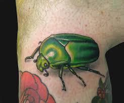 katelyn crane green scarab beetle tattoo tattoos by katelyn