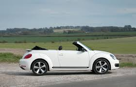 white volkswagen convertible volkswagen beetle cabriolet 60s white edition uk version 2013