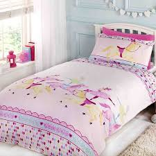 girls bedding horses ballerina circus showtime single duvet cover and pillowcase set