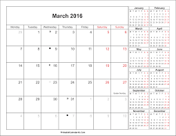 march 2016 calendar printable with holidays pdf and jpg