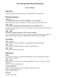 Office Clerk Resume No Experience Sle Resume Finance Clerk 100 Images Cover Letter Doctor39s