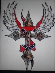 rebel flag cross tattoos pictures to pin on pinterest tattooskid